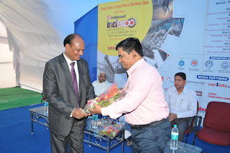 Photo: Mr. R.K. Agrawal Welcome Spacial Guest Shree. Hemant Ambaselkar