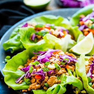 Ground Chicken Thai Lettuce Wraps.