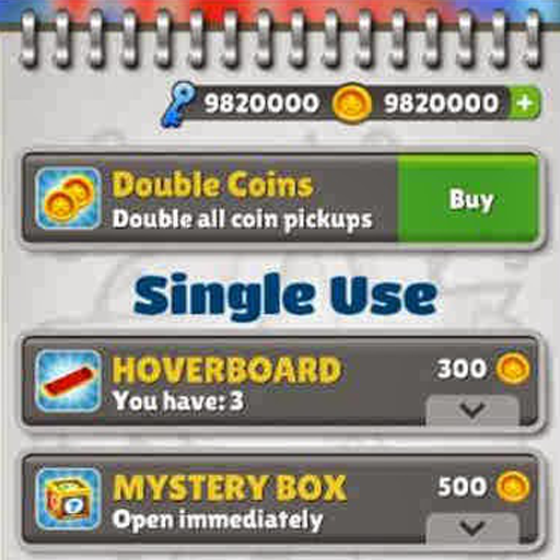 Coins Keys For Subway Surfers