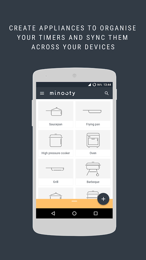Minooty cooking timer- screenshot