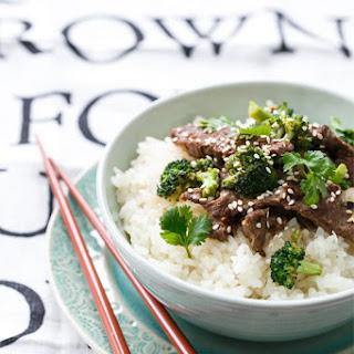 Coconut Beef & Broccoli Rice Bowls