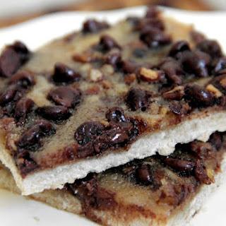 Skinny Chocolate Pecan Pie Shortbread Bars
