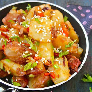 Potato and Red Beans Chinese Stir Fry.