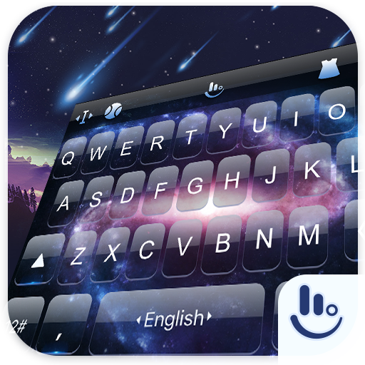 Galaxy Live Stars Keyboard Theme