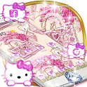 Pink Bowknot Diamond Kitten Theme icon