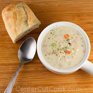 Cream of Chicken & Wild Rice Soup {Slow Cooker}