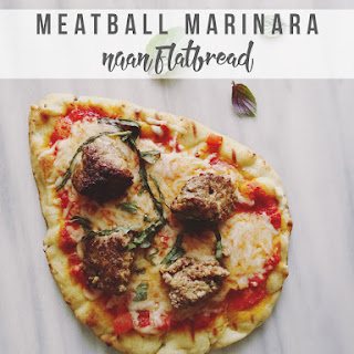 Meatball Marinara Naan Flatbread Recipe