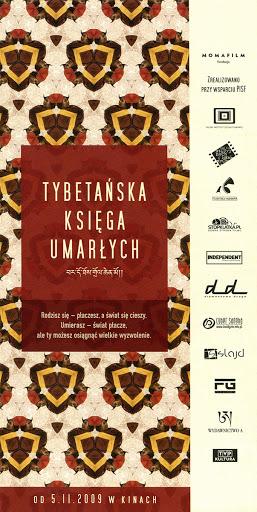 Przód ulotki filmu 'Tybetańska Księga Umarłych'