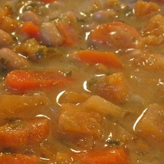 Creamy Sweet Potato Black Eyed Peas Soup