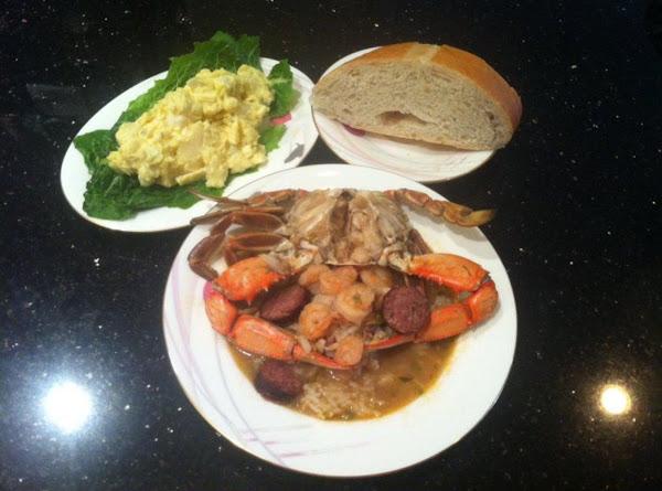 Cajun Chicken Sausage Shrimp & Crab Gumbo Recipe