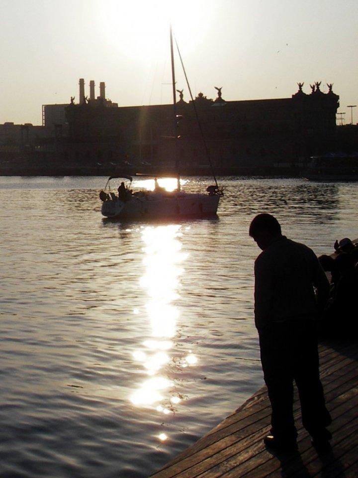 Barcellona al tramonto di mappet