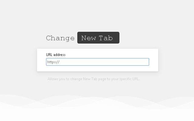 Change New Tab