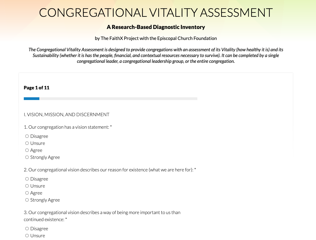 Frequently Asked Questions (FAQs) about the Congregational Vitality Assessment (CVA) from MapDash for Faith Communities.