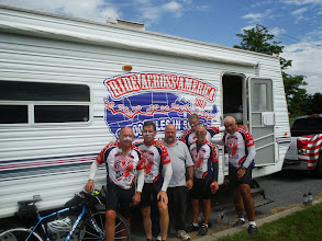 Photo: Day 49 Farmington to Oneida Shores Lake NY August 6 2013  Shawn Kindrew, met at gas station on break. Shawn was US Army Green Beret