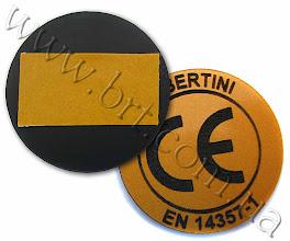 Photo: Сертификат соответствия на шильде. Пластик бронзово-черный, лазерная гравировка