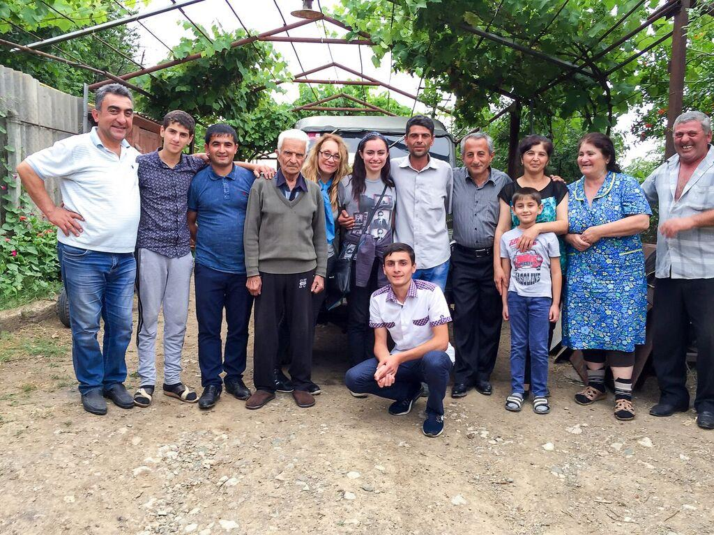 'Roots' - Smiling with Artur and three generations of his family after our first visit. (Photo: Kristine Anahit Cass)