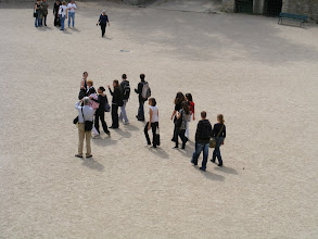 Photo: A number of groups make their way through the arena during our visit there.