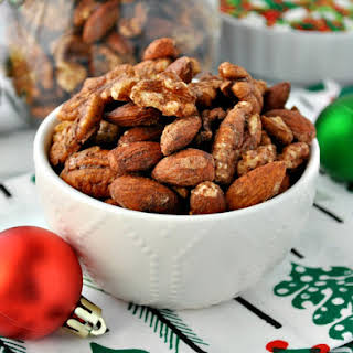 Quick & Easy Gingerbread Spiced Nuts.