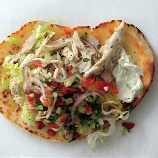 Chicken Gyros with Cucumber Salsa and Tsatsiki