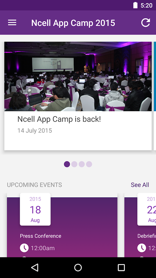 Ncell App Camp- screenshot