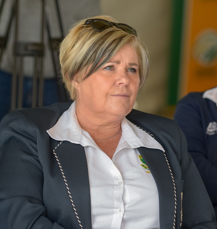 Christine du Preez, vice-president of Netball SA, during the Multi-purpose Facility Opening at Botshabelo Hub on August 22, 2018 in Botshabelo, South Africa.