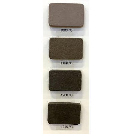 Stengodslera brun/svart med chamotte - 1000-1240°C