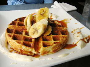 Photo: banana and rum caramel waffle by roboppy
