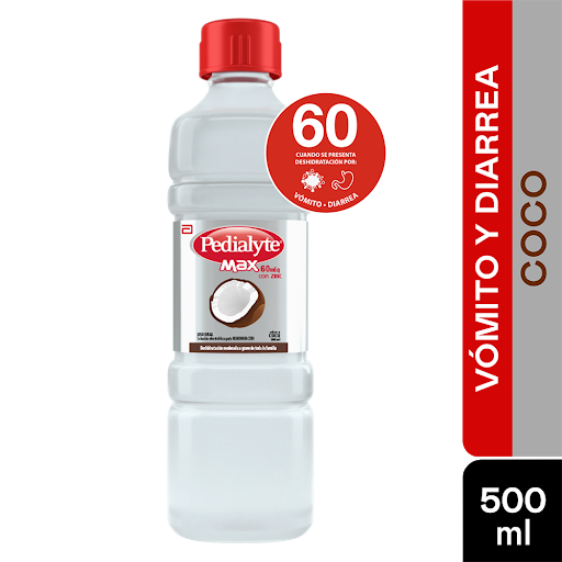 Pedialyte Max Zinc 60Meq Coco  Coco 500ml ELECTROLITOS (60 MEQ)