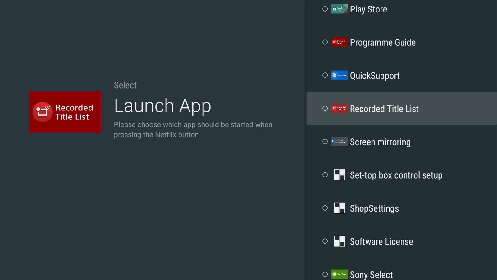 App Starter for Netflix Button- screenshot