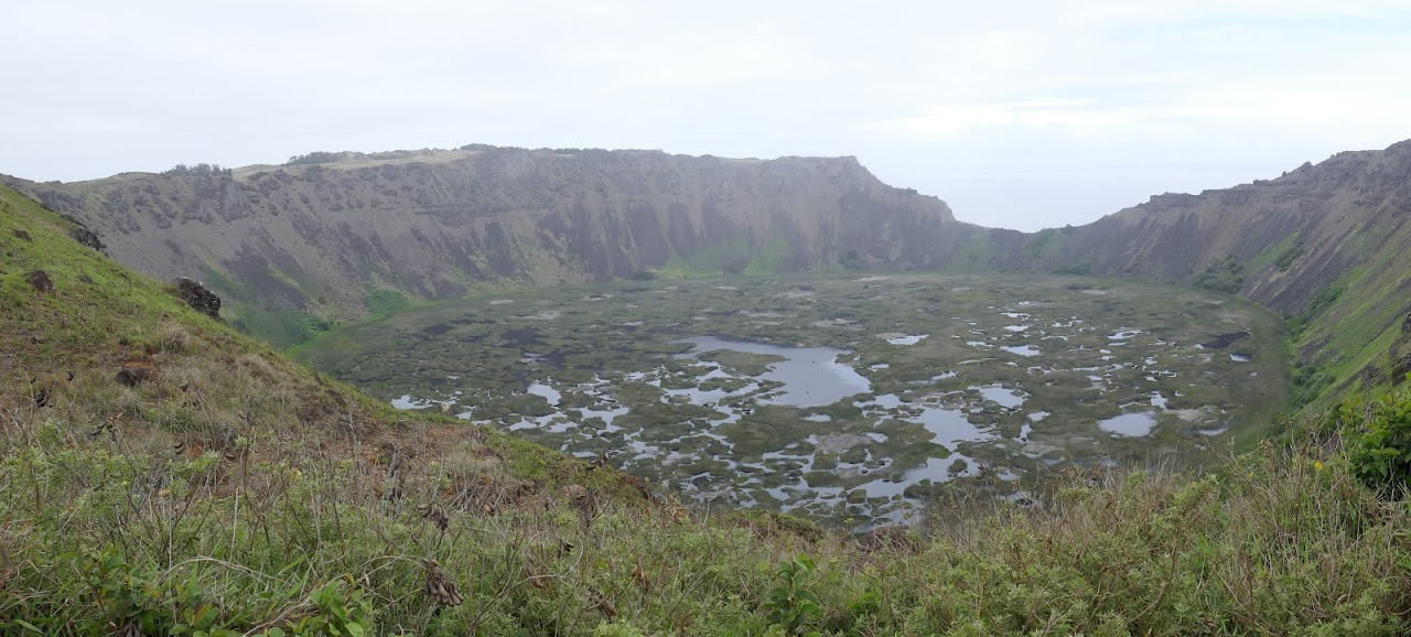 The crater at Rano Kau