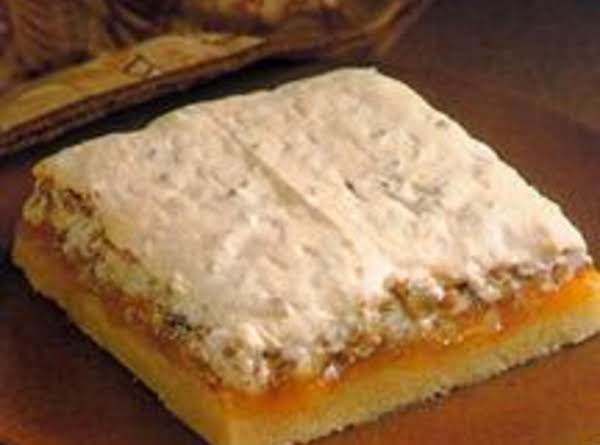 Apricot Pecan Meringue Bars Recipe