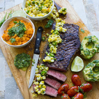 Grilled Sirloin Steak with Cilantro Corn Salsa