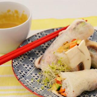 Thai Style Vegan Rice Paper Rolls (+ Easy Peanut Sauce)