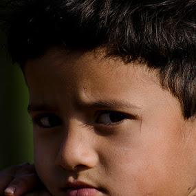 'Curious Looks' by Nirupam Roy - Babies & Children Child Portraits ( babies, nirupam, children, portrait, photography )