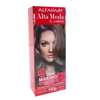Tinte Alfaparf Kit 7.1 Rubio Medio Cenizo