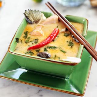 Thai Coconut Salmon Soup.