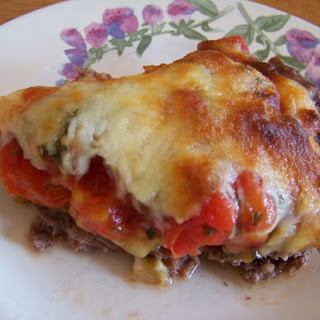 Hamburger Pie with Eggplant