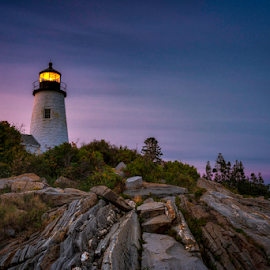 Pemaquid Light by Robert Fawcett - Buildings & Architecture Public & Historical ( maine, places, lighthouse, travel, landscape )