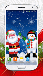 Cute Snowman Live Wallpaper HD screenshot 1
