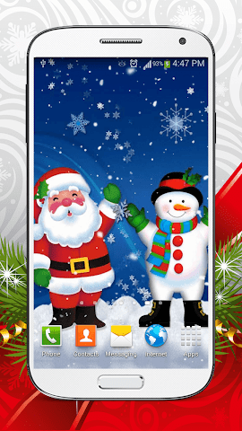 android Cute Snowman Live Wallpaper HD Screenshot 1