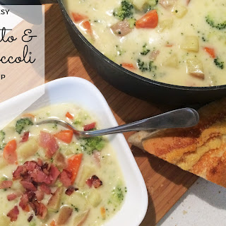 Cheesy Potato and Broccoli Soup
