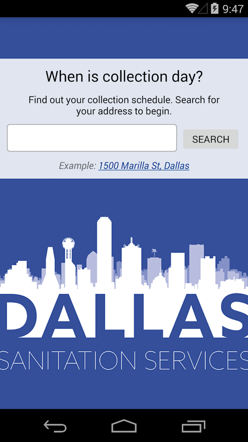 Dallas Sanitation Services- screenshot