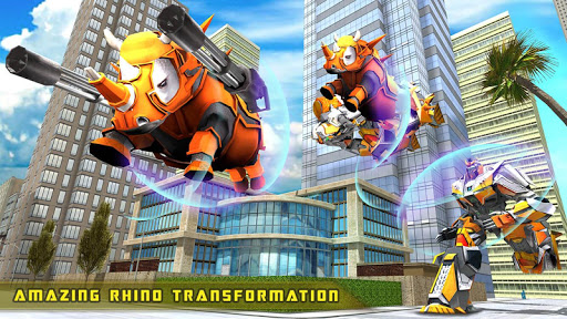 Rhino Robot Car transforming games u2013 City battle filehippodl screenshot 15