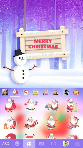 Christmas Animated Kika Theme Screenshot
