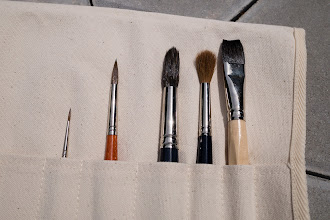Photo: Da Vinci watercolour brushes