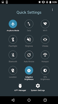 Quick Settings for Android -Toggle and Control Panel