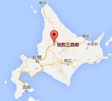 地図:独酌 三四郎