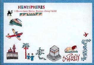 Photo: Hémisphères, 1985, enveloppe postale