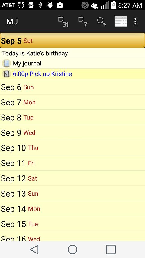 Memo Journal- screenshot