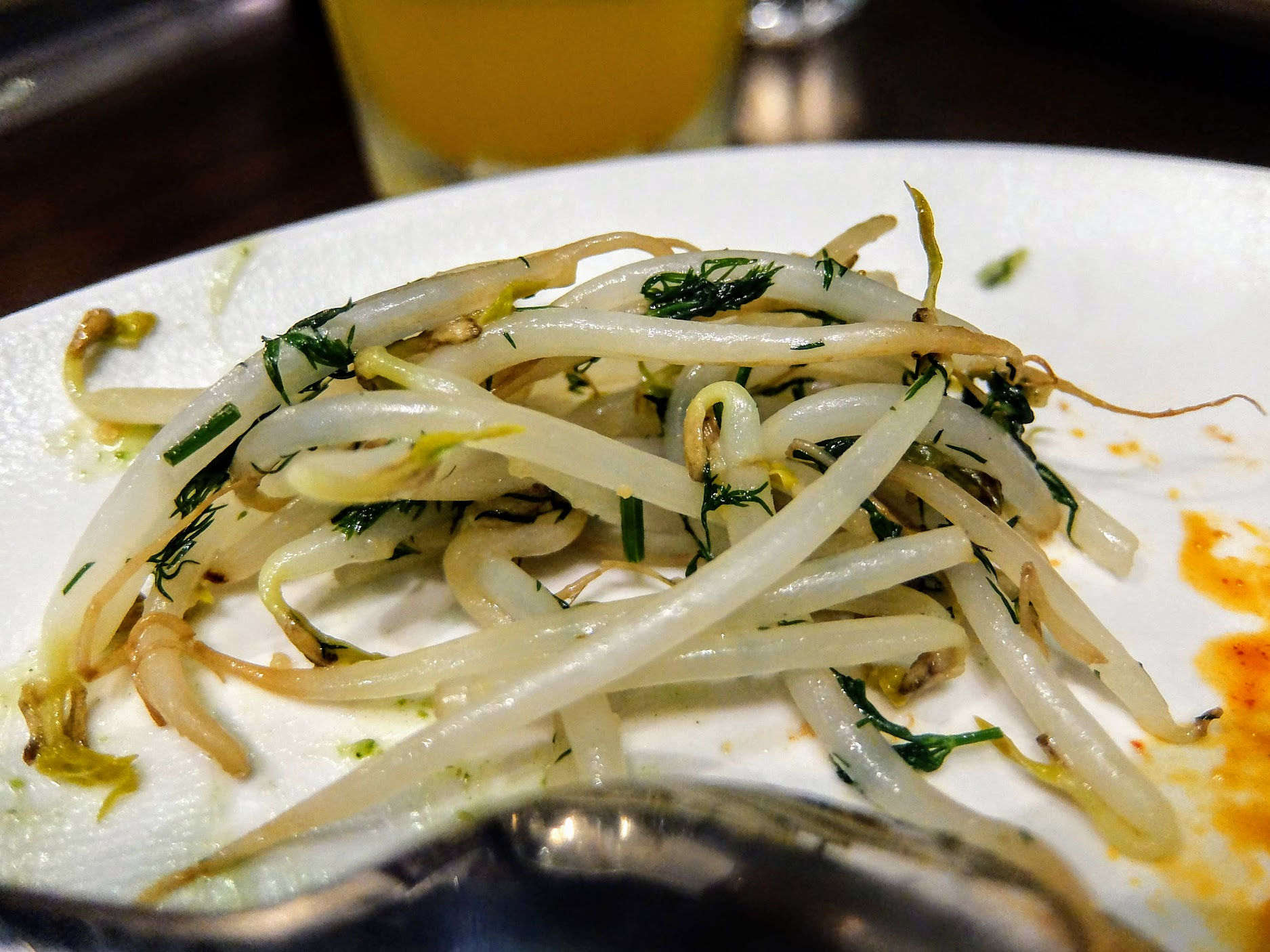 豆芽菜,是說在這種店吃到豆芽菜還蠻....不同的,感覺是熱炒店才會出的菜,但味道還不錯